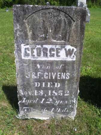 GIVENS, GEORGE W. - Pike County, Ohio   GEORGE W. GIVENS - Ohio Gravestone Photos