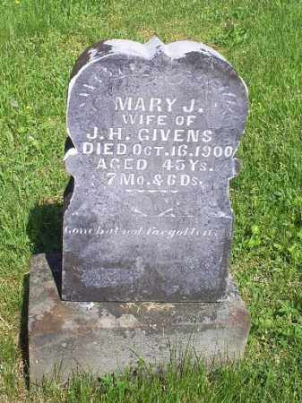 GIVENS, MARY J. - Pike County, Ohio | MARY J. GIVENS - Ohio Gravestone Photos