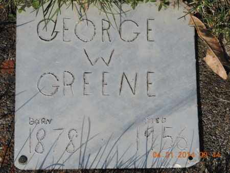 GREENE, GEORGE W - Pike County, Ohio | GEORGE W GREENE - Ohio Gravestone Photos