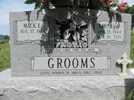GROOMS, MACK E. - Pike County, Ohio | MACK E. GROOMS - Ohio Gravestone Photos