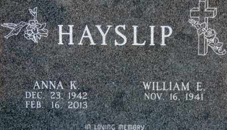 HAYSLIP, WILLIAM E - Pike County, Ohio | WILLIAM E HAYSLIP - Ohio Gravestone Photos