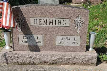 HEMMING, ISAAC T. - Pike County, Ohio | ISAAC T. HEMMING - Ohio Gravestone Photos