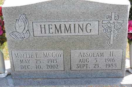 HEMMING, ABSOLAM H. - Pike County, Ohio | ABSOLAM H. HEMMING - Ohio Gravestone Photos