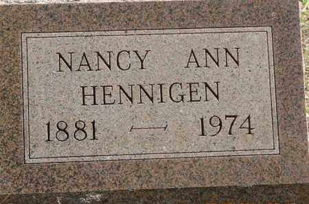 HENNIGEN, NANCY ANN - Pike County, Ohio | NANCY ANN HENNIGEN - Ohio Gravestone Photos