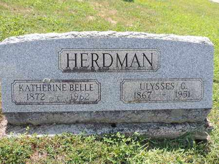 HERDMAN, KATHERINE BELLE - Pike County, Ohio | KATHERINE BELLE HERDMAN - Ohio Gravestone Photos