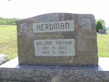 HERDMAN, WILLIM ARTHUR - Pike County, Ohio | WILLIM ARTHUR HERDMAN - Ohio Gravestone Photos