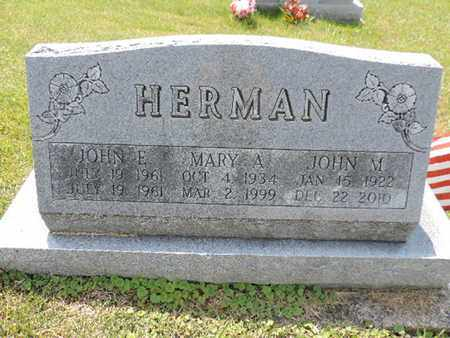 HERMAN, JOHN E. - Pike County, Ohio | JOHN E. HERMAN - Ohio Gravestone Photos