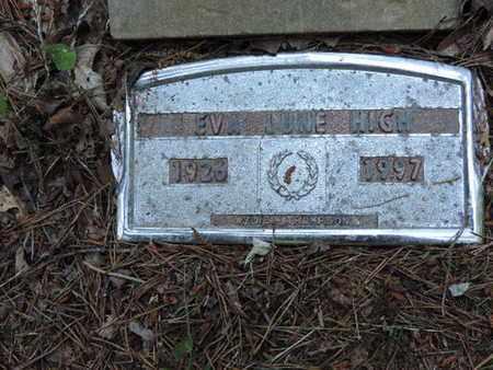 HIGH, EVA JUNE - Pike County, Ohio | EVA JUNE HIGH - Ohio Gravestone Photos
