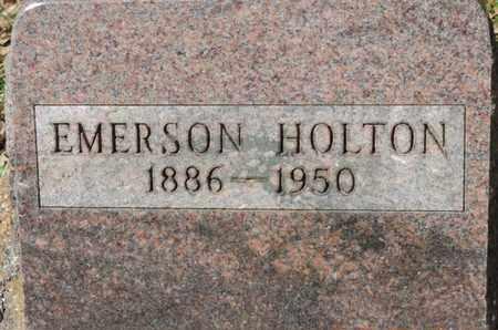 HOLTON, EMERSON - Pike County, Ohio | EMERSON HOLTON - Ohio Gravestone Photos