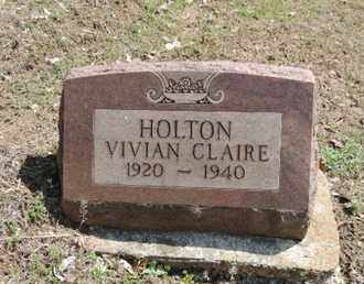 HOLTON, VIVIAN CLAIRE - Pike County, Ohio | VIVIAN CLAIRE HOLTON - Ohio Gravestone Photos