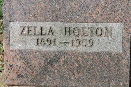 HOLTON, ZELLA - Pike County, Ohio | ZELLA HOLTON - Ohio Gravestone Photos