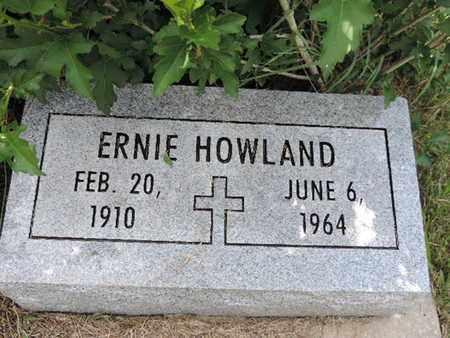 HOWLAND, ERNIE - Pike County, Ohio | ERNIE HOWLAND - Ohio Gravestone Photos