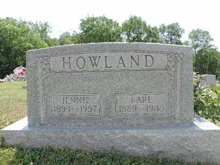 HOWLAND, EARL - Pike County, Ohio | EARL HOWLAND - Ohio Gravestone Photos