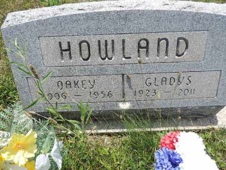 HOWLAND, OAKEY - Pike County, Ohio | OAKEY HOWLAND - Ohio Gravestone Photos