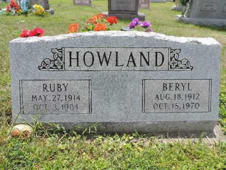 HOWLAND, RUBY - Pike County, Ohio | RUBY HOWLAND - Ohio Gravestone Photos