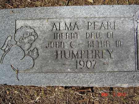 HUMPHREY, ALMA PEARL - Pike County, Ohio | ALMA PEARL HUMPHREY - Ohio Gravestone Photos
