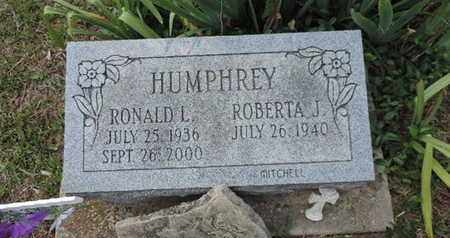 HUMPHREY, RONALD L. - Pike County, Ohio | RONALD L. HUMPHREY - Ohio Gravestone Photos