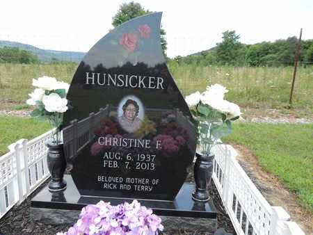 HUNSICKER, CHRISTINE F. - Pike County, Ohio | CHRISTINE F. HUNSICKER - Ohio Gravestone Photos