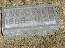 IRONS, FANNIE - Pike County, Ohio | FANNIE IRONS - Ohio Gravestone Photos