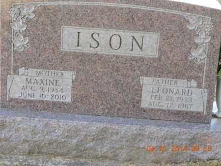 ISON, LEONARD - Pike County, Ohio | LEONARD ISON - Ohio Gravestone Photos