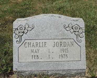 JORDAN, CHARLIE - Pike County, Ohio | CHARLIE JORDAN - Ohio Gravestone Photos