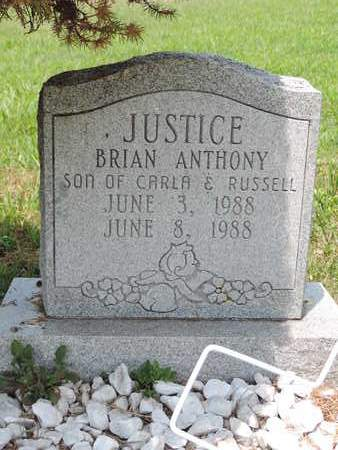 JUSTICE, BRIAN ANTHONY - Pike County, Ohio | BRIAN ANTHONY JUSTICE - Ohio Gravestone Photos
