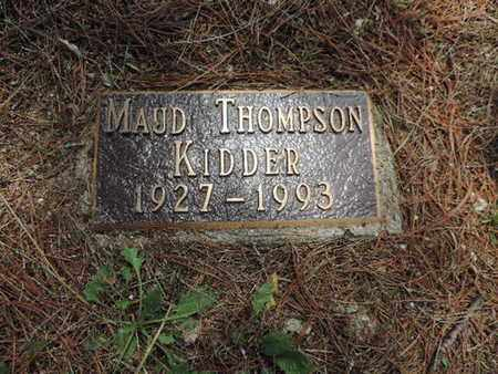 THOMPSON KIDDER, MAUD - Pike County, Ohio | MAUD THOMPSON KIDDER - Ohio Gravestone Photos