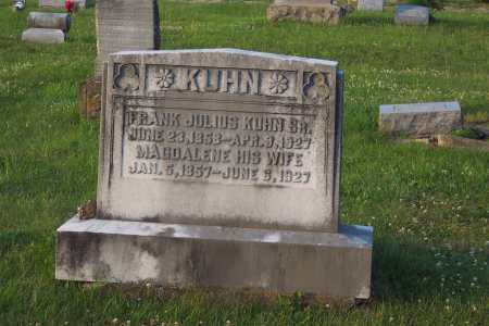 KUHN, FRANK JULIUS - Pike County, Ohio | FRANK JULIUS KUHN - Ohio Gravestone Photos