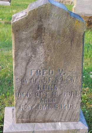 KUHN, FREDRICK VALENTINE - Pike County, Ohio | FREDRICK VALENTINE KUHN - Ohio Gravestone Photos