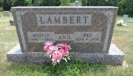 LAMBERT, MINNIE - Pike County, Ohio | MINNIE LAMBERT - Ohio Gravestone Photos
