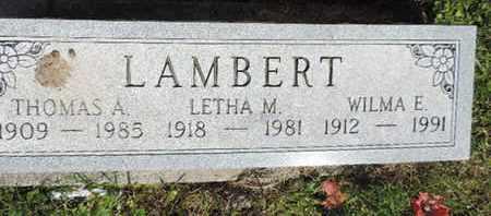 LAMBERT, WILMA E. - Pike County, Ohio | WILMA E. LAMBERT - Ohio Gravestone Photos