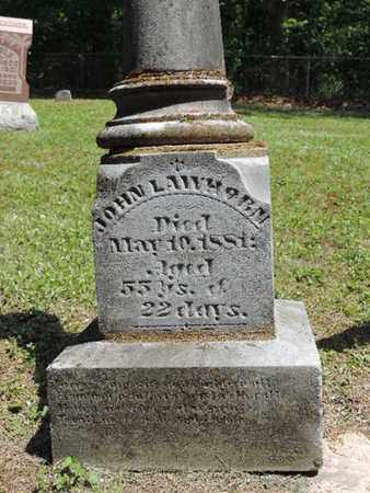LAWHORN, JOHN - Pike County, Ohio | JOHN LAWHORN - Ohio Gravestone Photos