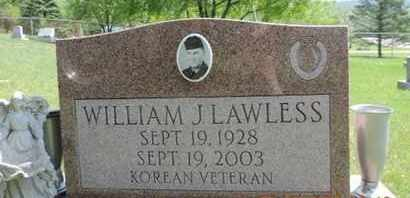 LAWLESS, WILLIAM J. - Pike County, Ohio | WILLIAM J. LAWLESS - Ohio Gravestone Photos