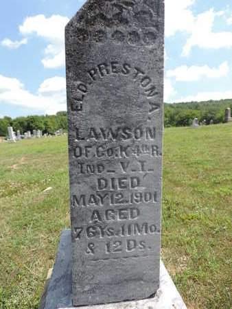LAWSON, ELD. PRESTON A. - Pike County, Ohio | ELD. PRESTON A. LAWSON - Ohio Gravestone Photos