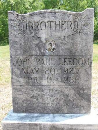 LEEDOM, JOHN PAUL - Pike County, Ohio | JOHN PAUL LEEDOM - Ohio Gravestone Photos