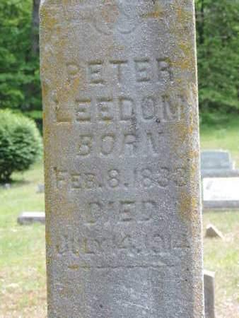 LEEDOM, PETER - Pike County, Ohio   PETER LEEDOM - Ohio Gravestone Photos