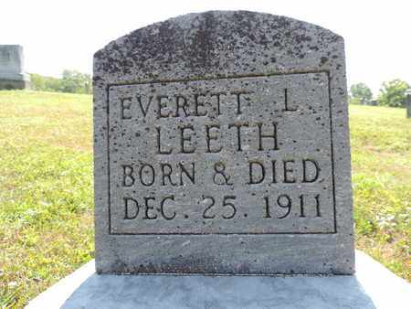 LEETH, EVERET L. - Pike County, Ohio | EVERET L. LEETH - Ohio Gravestone Photos