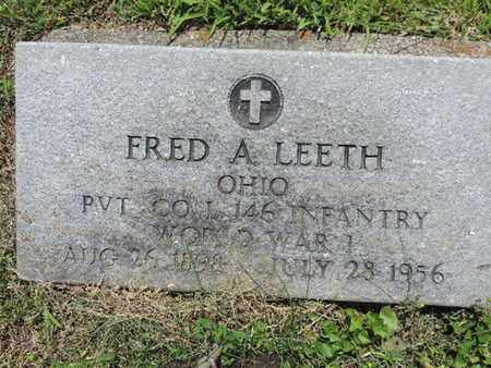 LEETH, FRED A. - Pike County, Ohio | FRED A. LEETH - Ohio Gravestone Photos