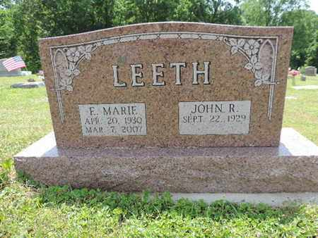 LEETH, F. MARIE - Pike County, Ohio | F. MARIE LEETH - Ohio Gravestone Photos