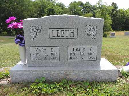 LEETH, HOMER C. - Pike County, Ohio | HOMER C. LEETH - Ohio Gravestone Photos