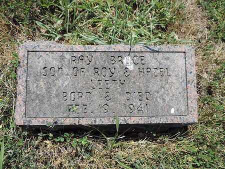 LEETH, RAY BRUCE - Pike County, Ohio | RAY BRUCE LEETH - Ohio Gravestone Photos