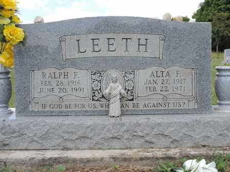 LEETH, RALPH F. - Pike County, Ohio | RALPH F. LEETH - Ohio Gravestone Photos