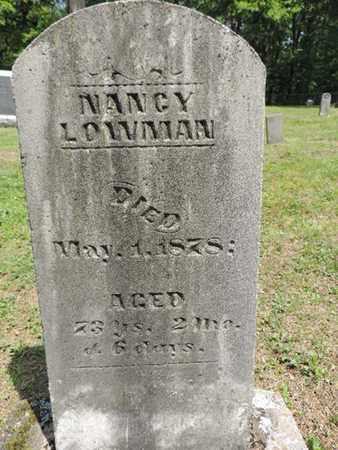LOWMAN, NANCY - Pike County, Ohio | NANCY LOWMAN - Ohio Gravestone Photos