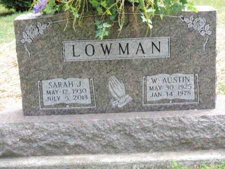 LOWMAN, W. AUSTIN - Pike County, Ohio | W. AUSTIN LOWMAN - Ohio Gravestone Photos