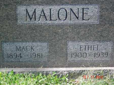 MALONE, MACK - Pike County, Ohio | MACK MALONE - Ohio Gravestone Photos