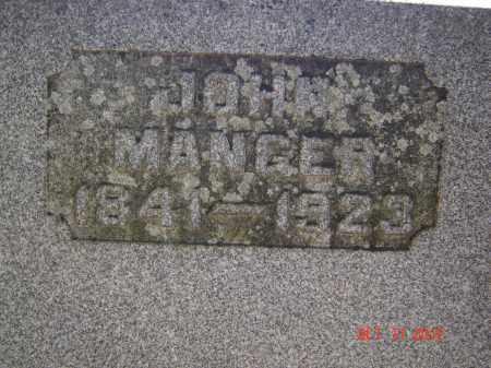 MANGER, JOHN - Pike County, Ohio | JOHN MANGER - Ohio Gravestone Photos