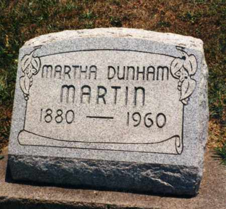 DUNHAM MARTIN, MARTHA - Pike County, Ohio | MARTHA DUNHAM MARTIN - Ohio Gravestone Photos
