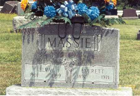 MASSIE, ELVA - Pike County, Ohio | ELVA MASSIE - Ohio Gravestone Photos
