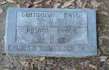 MASSIE, GWENDOLYN - Pike County, Ohio | GWENDOLYN MASSIE - Ohio Gravestone Photos