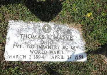 MASSIE, THOMAS L. - Pike County, Ohio | THOMAS L. MASSIE - Ohio Gravestone Photos